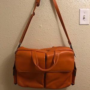 San Babila Italian Leather laptop bag or briefcase